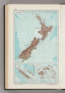 238.  New Zealand, New Caledonia, Fiji.  The World Atlas.