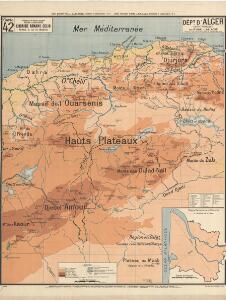 Dépt D' Alger carte physique