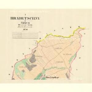 Hradetschny - m0889-1-001 - Kaiserpflichtexemplar der Landkarten des stabilen Katasters