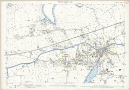 Cheshire XVII.6 (includes: Lymm; Woolston) - 25 Inch Map