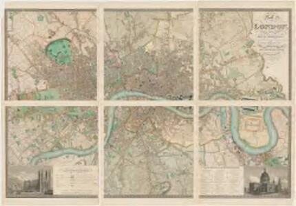 Map of London : made from an actual survey in the years 1824, 1825, & 1826