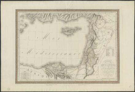 Carte physique & politique de la Syrie, pour servir à l'histoire des conquêtes du général Bonaparte en Orient