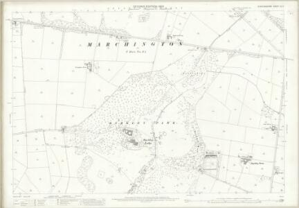 Staffordshire XL.9 (includes: Anslow; Tatenhill; Yoxall) - 25 Inch Map