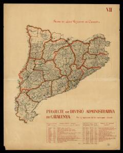 Projecte de divisió administrativa de Catalunya per agrupacions de les comarques naturals