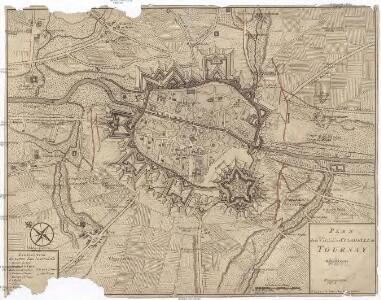 Plan de la ville et citadelle de Tournay