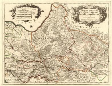 La Veluwe, La Betuwe, et Le Comté de Zutphen dans Le Duché de Gueldre