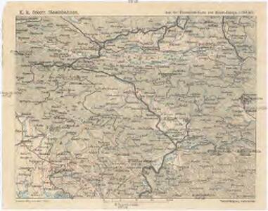 Aus der Übersichtskarte von Mittel-Europa 1:750 000