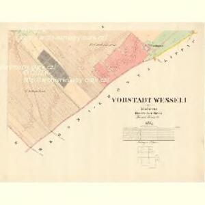 Vorstadt Wesseli - m3361-1-009 - Kaiserpflichtexemplar der Landkarten des stabilen Katasters