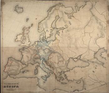 Wandcharte von Europa