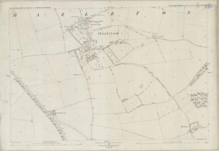 Gloucestershire XXXVI.1 (includes: Compton Abdale; Haselton; Turkdean) - 25 Inch Map