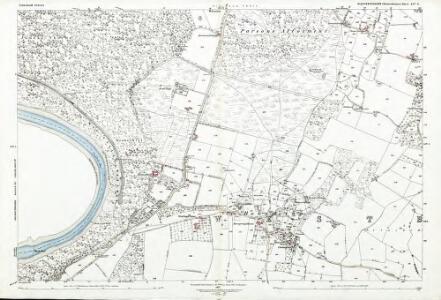 Gloucestershire LIV.3 (includes: Tidenham; Tintern) - 25 Inch Map