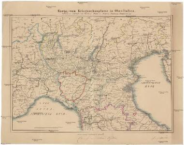 Karte vom Kriegsschauplatze in Ober-Italien