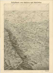 Reliefkarte von Galizien und Süd-Polen