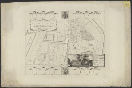 Platte grond van het St. Pieters Gasthuis : benevens alle de daaraan behoorende huizen en tuinen