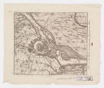 Plan von der Stadt und umliegenden Gegend von Wien