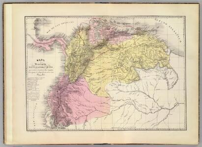 Mapa de Venezuela, N. Granada y Quito, 1819 y 1820.