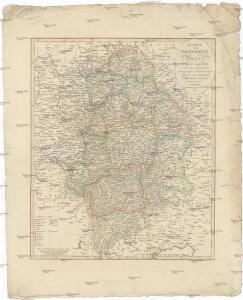 Karte vom Koenigreich Baiern in Kreise eingetheilt