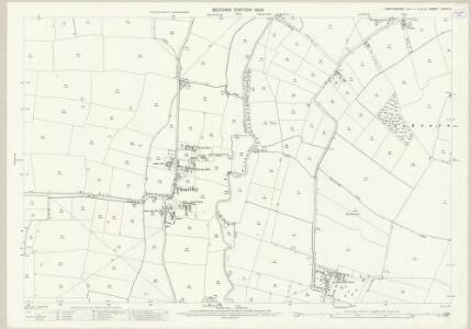 Lincolnshire LXXVII.16 (includes: Aubourn Haddington and South Hykeham; Bassingham; Thurlby) - 25 Inch Map