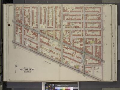 Brooklyn, Vol. 2, Double Page Plate No. 7; Part of    Wards 7 & 23, Section 7; [Map bounded by Gates Ave., Bedford Ave.; Including     Atlantic Ave., Washington Ave.]