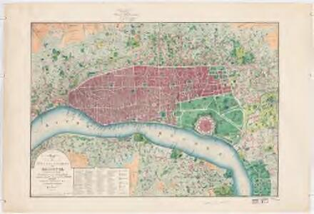 Map of the city and environs of Calcutta : constructed chiefly from Major Schalch's map and from Captain Prinsep's surveys of the suburbs with the latest improvements and topographic details