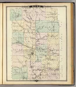 Map of Dunn County, State of Wisconsin.