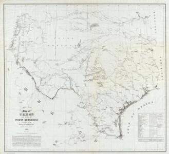 Map of Texas and part of New Mexico.