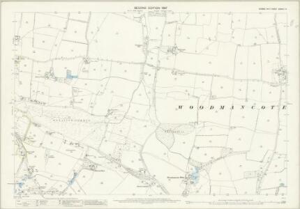 Sussex XXXVIII.14 (includes: Henfield; Woodmancote) - 25 Inch Map