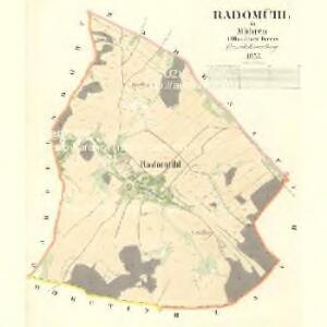 Radomühl - m2522-1-001 - Kaiserpflichtexemplar der Landkarten des stabilen Katasters