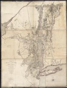 A chorographical map of the Province of New-York in North America, divided into counties, manors, patents and townships, exhibiting likewise all the private grants of land made and located in that Province