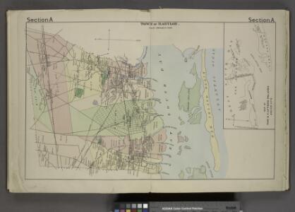 Town of Babylon. [Township]; Map of Oak & Cap Islands and Beach.
