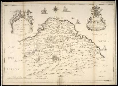 A map of East Lothian / survey'd by J. Adair.