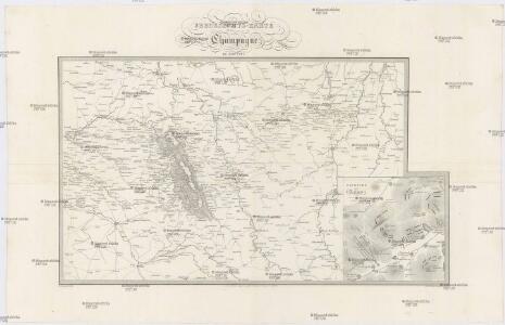 Uebersichts-Karte der Stellungen in der Champagne im Jahr 1792