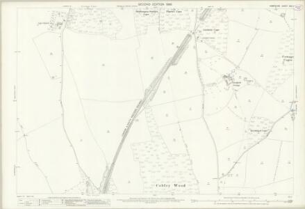 Hampshire and Isle of Wight XXV.7 (includes: Laverstoke; Overton; Steventon) - 25 Inch Map