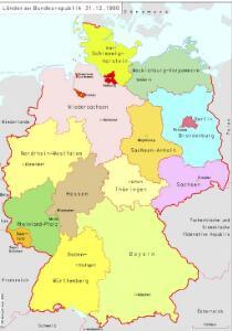 Länder der Bundesrepublik 31.12.1990