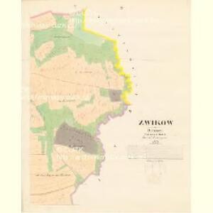 Zwikow - c9308-1-004 - Kaiserpflichtexemplar der Landkarten des stabilen Katasters