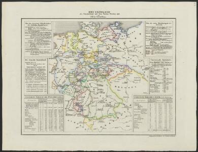 [Historisch-geographischer Atlas zu den allgemeinen Geschichtswerken von C. v. Rotteck, Pölitz u. Becker] : Deutschland als Staatenbund seit dem Pariser Frieden 1814