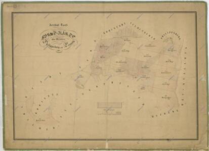 Hospodářská mapa revíru Filipova Hora a Spálenec