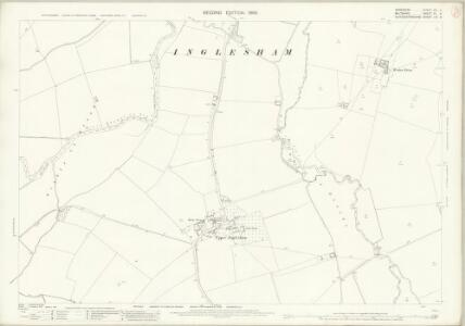 Berkshire VII.6 (includes: Buscot; Hannington; Highworth; Inglesham; Kempsford) - 25 Inch Map
