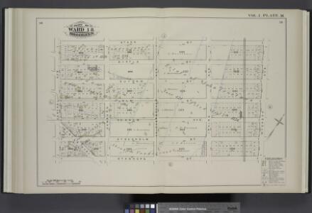 Vol. 2. Plate, M. [Map bound by Starr St., Wyckoff Ave., Stanhope St., Central Ave.; Including Myrtle St., Suydam St., Elm St., De Kalb Ave., Stockholm St., Myrtle Ave., Hamburg St., Knickerbocker Ave., Irving Ave.]