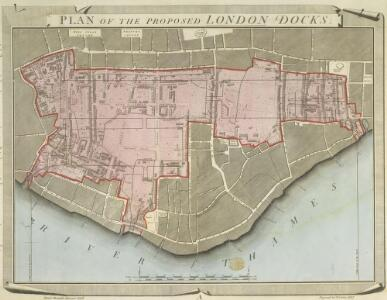 Plan of Proposed London Docks (at Wapping)