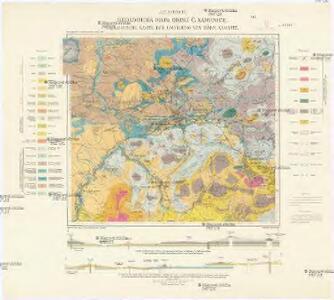 Geologická mapa okolí Č[eské] Kamenice