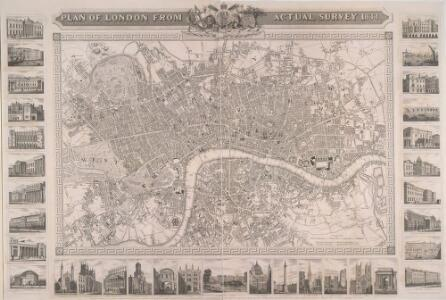 PLAN OF LONDON FROM AN ACTUAL SURVEY 233