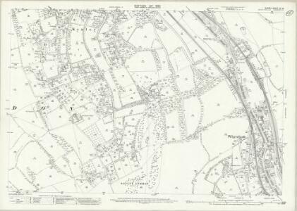 Surrey XX.10 (includes: Caterham; Coulsdon; Sanderstead; Warlingham) - 25 Inch Map