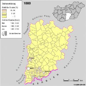 Kroaten im Komitat Bács-Kiskun 1880