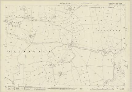 Denbighshire XXII.10 (includes: Allington; Farndon) - 25 Inch Map