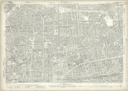 London (1915- Numbered sheets) V.7 (includes: Bethnal Green; Shoreditch; Stepney) - 25 Inch Map