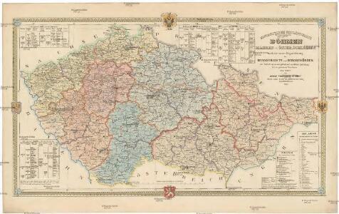 Montanistische Geschäftskarte von Böhmen, Mähren und Öster. Schlesien