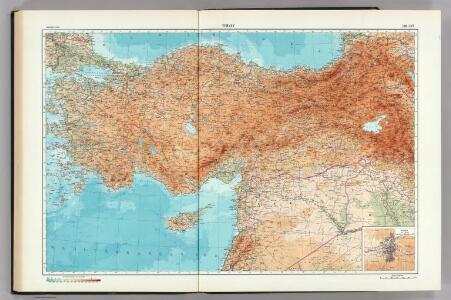 146-147.  Turkey.  Ankara.  The World Atlas.