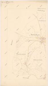 Katastrální mapa obce Fleky spolu s obcí Červené Dřevo WX-XI-27 cg