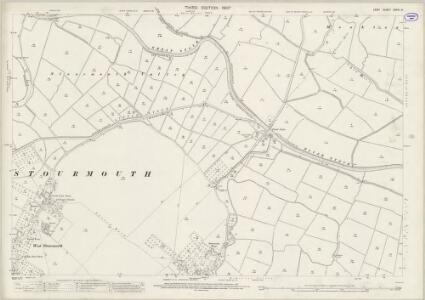 Kent XXXVI.8 (includes: Ash; Chislet; Monkton; Preston; Sarre; Stourmouth) - 25 Inch Map